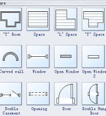 Kitchen Symbols For Floor Plans Floor Plan Symbols Door