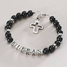 communion gifts for boys personalised boys communion name bracelet cross for