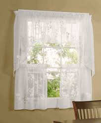 Sheer Curtains With Valance Hydrangea Faux Linen Sheer Curtains By Commonwealth Home Fashions