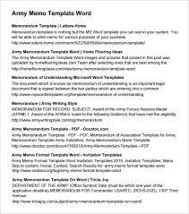 army memorandum templates find word templates