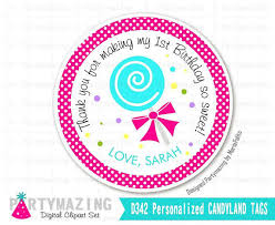favor tags candyland tags printable thank you labels lollipop stickers