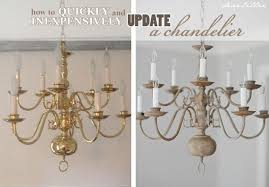 Brass Chandelier Makeover A Chandelier With Chalk Paint Totally This I