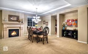 Dining Room With Carpet Dining Room With Metal Fireplace By Chris Melisa Simon Hawk N
