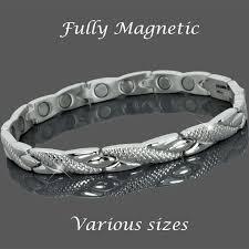 steel stainless magnetic bracelet stainless images 4 in 1 womens stainless steel magnetic bracelet magnets bio stones jpg