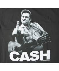 johnny cash flipping the bird t shirt