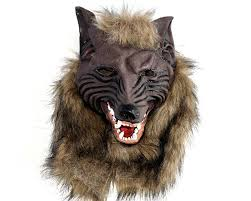wolf halloween costumes amazon com latex wolf head mask halloween costumes werewolf mask