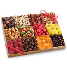 fruit and nut gift baskets golden state fruit grand fruit nuts and to tray gift