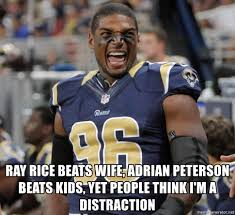 Michael Sam Meme - ray rice beats wife adrian peterson beats kids yet people think