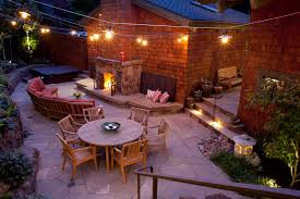 Backyard Landscape Lighting Ideas - low voltage landscape lighting in patio traditional with front