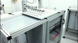 liquid lens doming quartz semi automatic machine demonstration