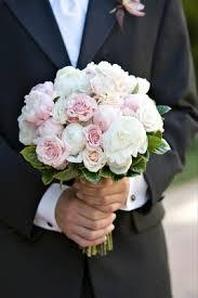 wedding flowers groom pale pink chocolate brown summer wedding in california inside