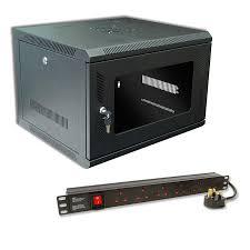 wall mount pdu 9u 450mm data cabinet u0026 6 way surge protected pdu at
