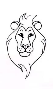 how to draw a lion in 13 steps how to draw pinterest drawing