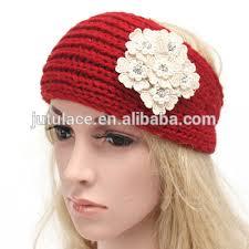 winter headbands new style headwrap ear warmer women knit flower headbands winter