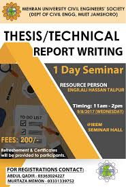technical report writing samples electrical engineering downloads mehran university 1 day seminar on