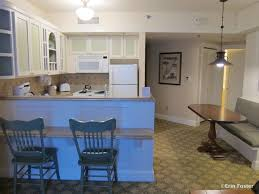 disney food for families the dvc villa kitchens part beach club one bedroom villa kitchen and dining area