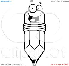 colored pencils clipart black and white clipart panda free