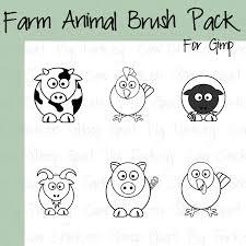6 cartoon farm animal brushes by madaline 7 on deviantart