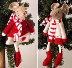 Gisela Graham Christmas Decorations Wholesale by Gisela Graham Red U0026 White Felt Mouse Christmas Decorations Set