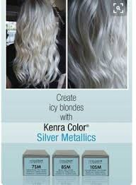 silver blonde color hair toner formula kenra color 8sm 20 volume on the roots toned with rapid