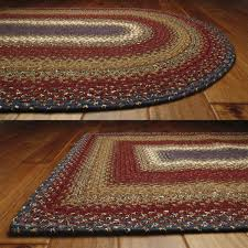 Log Cabin Area Rugs Log Cabin Cotton Braided Rugs Primitive Home Decors