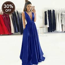 royal blue dress a line v neck royal blue satin pleated prom dress with