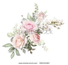 flowers arrangements watercolor flowers arrangements floral illustration composition