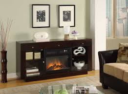 Fireplace Storage by Furniture Black Wooden Tv Stand With Fireplace Having Storage