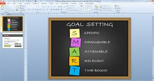 free goal setting powerpoint template with sticky notes free