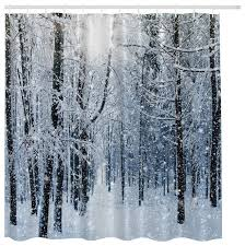 Winter Shower Curtains Inspiring Shower Curtains White Fabric Inspiration With Winter