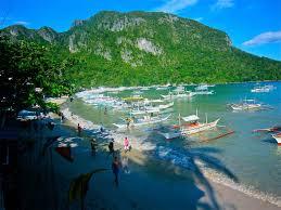 lexus company palawan long boats await island hopping passengers to explore bacuit bay jpg