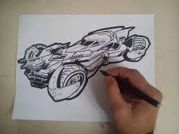 batman car drawing como dibujar el batimovil de batman vs superman how to draw the