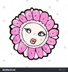 pretty flower cartoon character stock vector 117050659 shutterstock