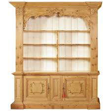 antique louis xiv carved pine bookcase display cabinet at 1stdibs