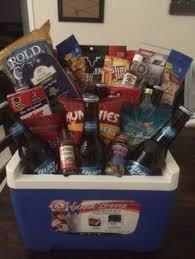 beef gift baskets mini bottles and mini soda bottles in a gift basket
