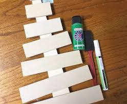 diy wooden christmas tree craft