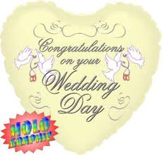 wedding day congratulations congratulations on your wedding day balloon balloon in a box uk