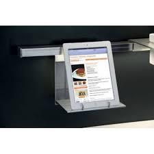 support tablette cuisine support pour tablette sur barre de crédence accessoires de cuisine