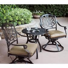 Patio Furniture Bistro Set - darlee santa monica 7 piece cast aluminum patio dining set darlee