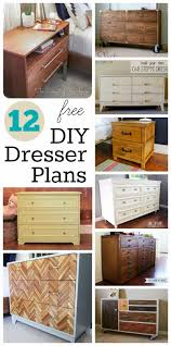 12 free diy dresser plans build your own solid wood dresser