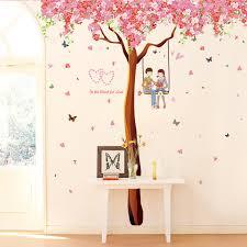 cherry home decor diy romantic cherry tree wall sticker home decor vinyl bedroom