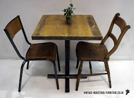 Antique Bistro Table Vintage Metal Bistro Table And Chairs Unique Vintage Industrial