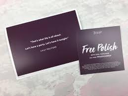 julep beauty box december 2016 subscription box review free box