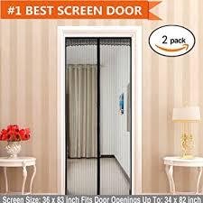 Amazon Door Curtains Amazon Com Magnetic Screen Door 2 Pack Magic Mesh With Full