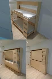 Wall Bunk Beds Diy Murphy Bunk Bed Plans Regarding 207 Best Murphybed Images On