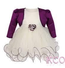 baby girls dress fjd924 bolero jacket and dress ivory cadburys purple