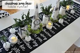 black and white table runners cheap black and white christmas song lyric table runner homeforchristmas