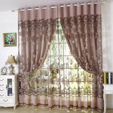 balcony curtain 2018 flower print living room balcony curtain gray flat front in