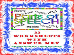 parts of speech worksheets with answer keys by john421969