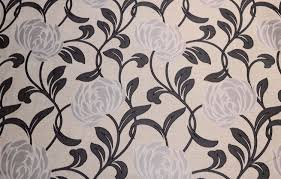 Modern Floral Wallpaper Black Grey Silver Contemporary Floral Curtain Fabric Ebay